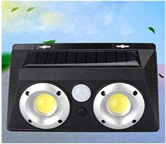 Napelemes, mozgásérzékelős COB LED lámpa (2 Led-es)