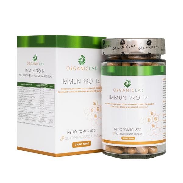 OrganicLab Immun Pro 14 étrend kiegészítő kapszula